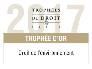 LPA-CGR avocats Trophée d'or en environnement